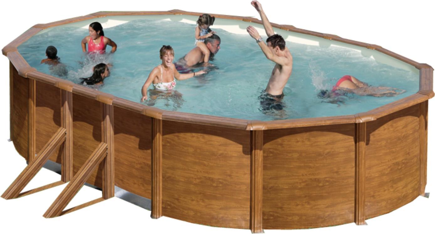 stahlwandbecken set achteck oval 120cm tief ovalbecken set pool schwimmbecken. Black Bedroom Furniture Sets. Home Design Ideas