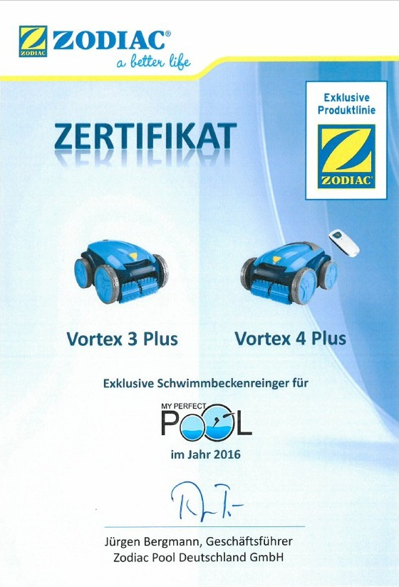 Vollautomatischer poolroboter zodiac vortex 4 plus - My perfect pool ...