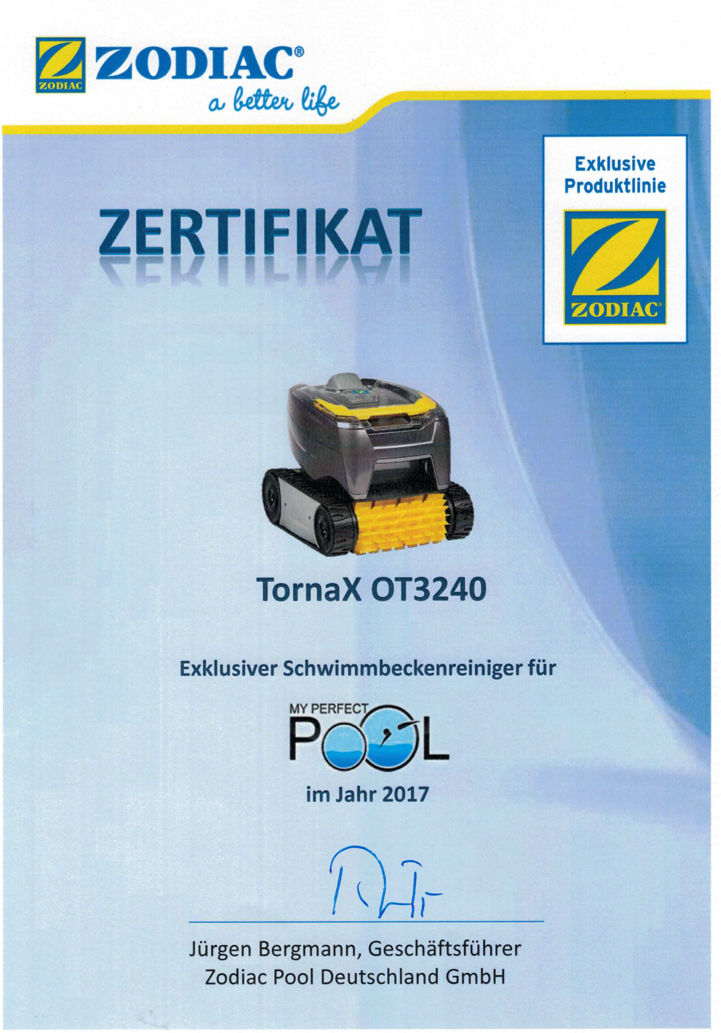 Zodiac tornax ot 3240 i boden und wandreiniger i - My perfect pool ...