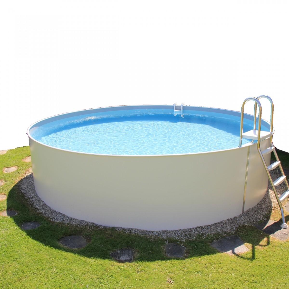 Stahlwandbecken rund 20cm tief   Durchmesser 20cm   Pool ...