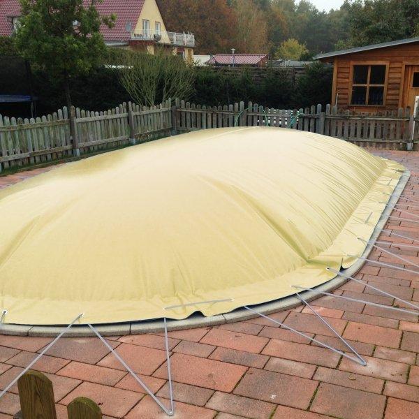 Aufblasbare Pool Abdeckung für Achtformpool 725 x 460 cm