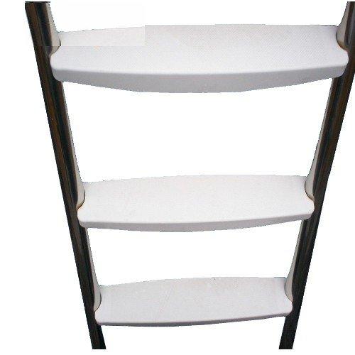 poolleiter deluxe aus edelstahl f r aufstellbecken 2 x 3. Black Bedroom Furniture Sets. Home Design Ideas