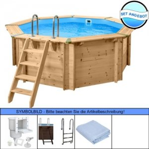 Holzpool - Set Evolution Rund 355 x 116 cm