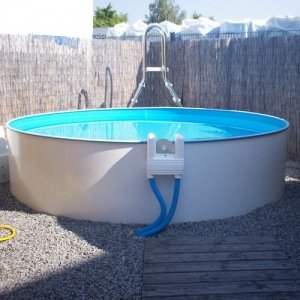 Stahlwandbecken rund 120 cm tiefe 400 x 120 cm - My perfect pool ...